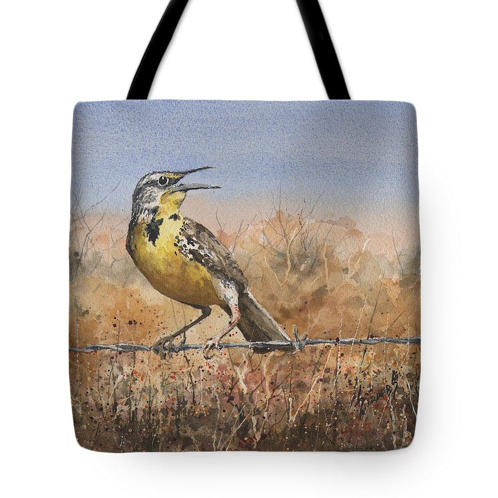 Meadowlark Paintings Tote Bags