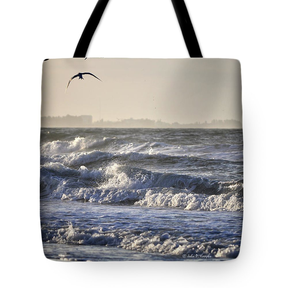 John Knapko Tote Bag featuring the photograph Wet And Wild by John Knapko