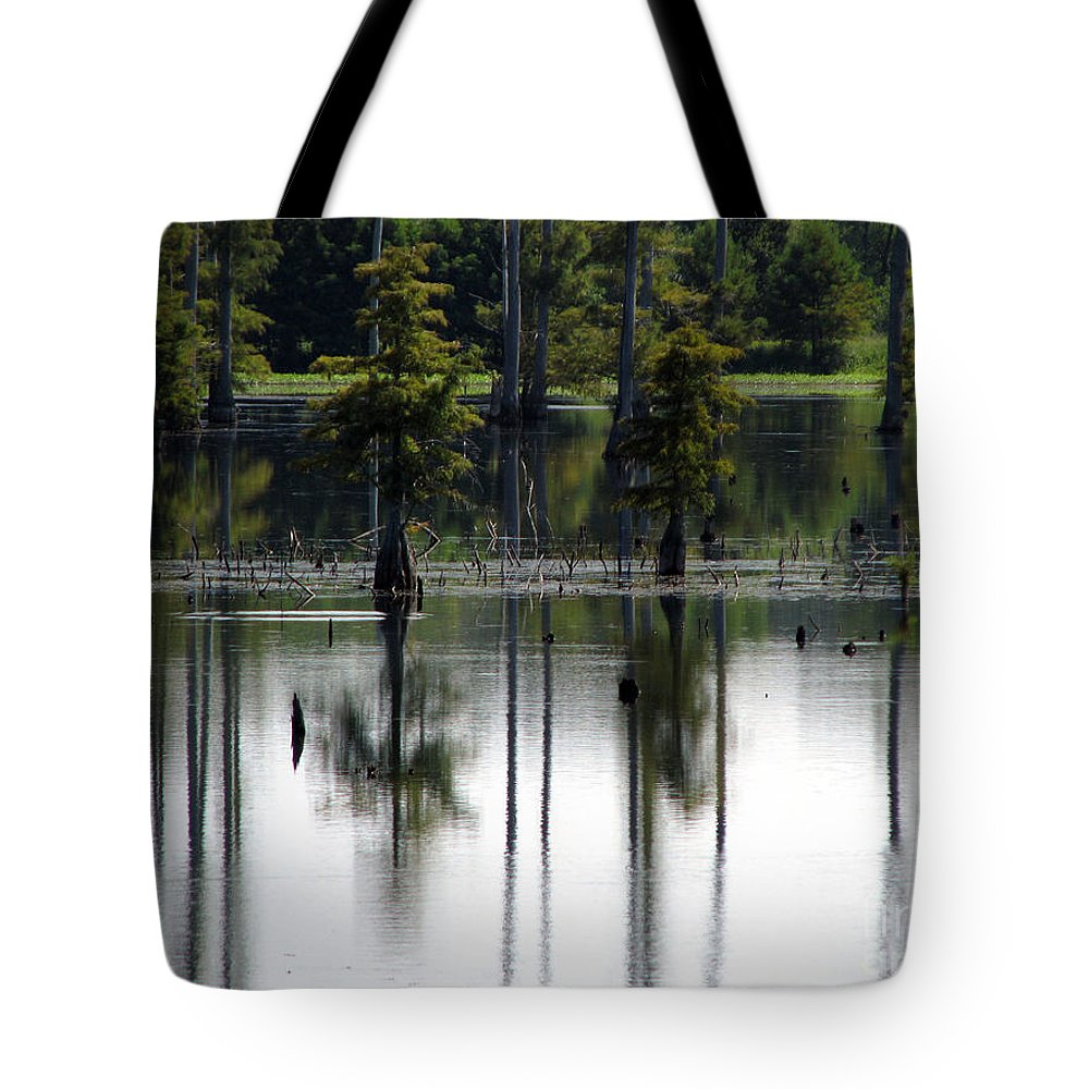Wetlands Tote Bag featuring the photograph Wetland by Amanda Barcon