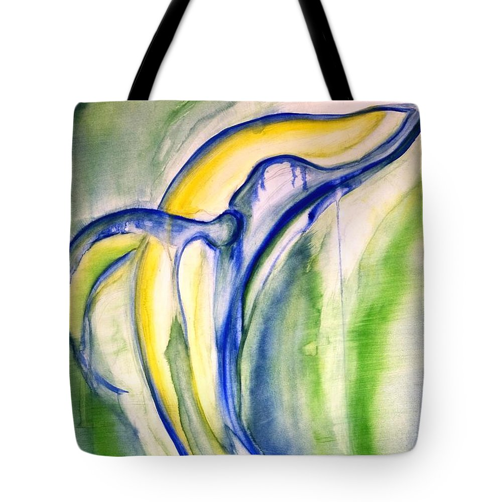 Watercolor Tote Bag featuring the painting Whale by Sheridan Furrer