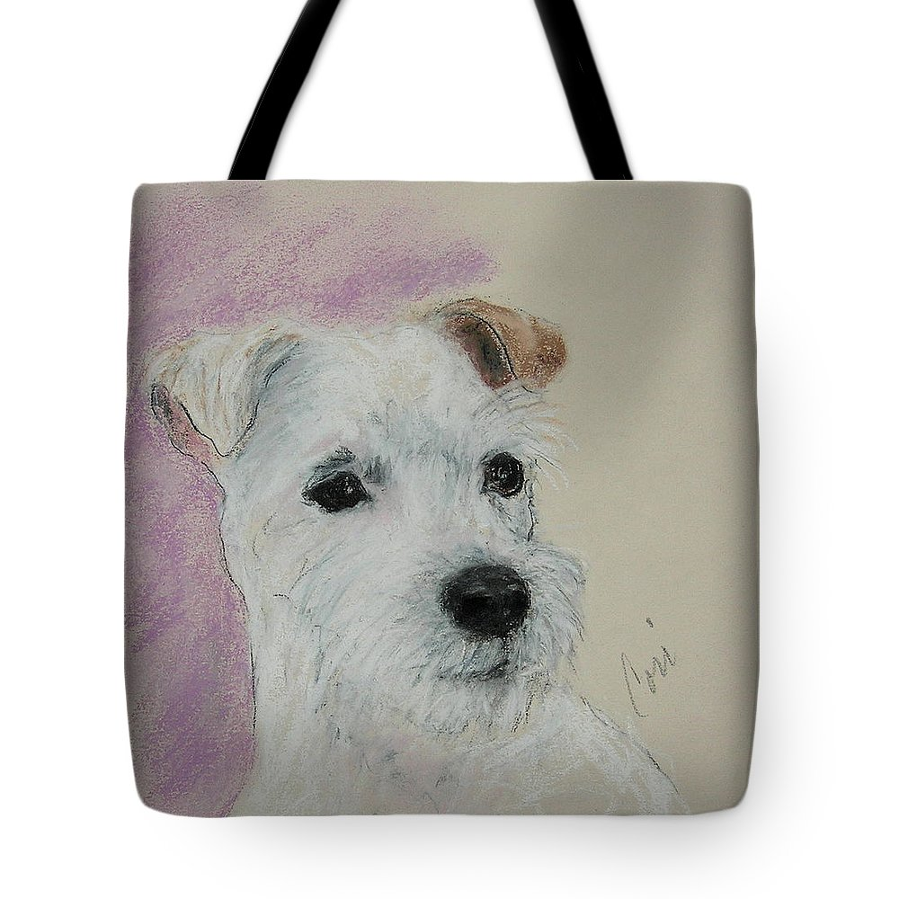 Pastel Tote Bag featuring the drawing What A Riot by Cori Solomon