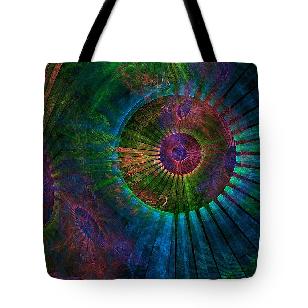 Abstract Tote Bag featuring the digital art What A Wonderful World by Lyle Hatch