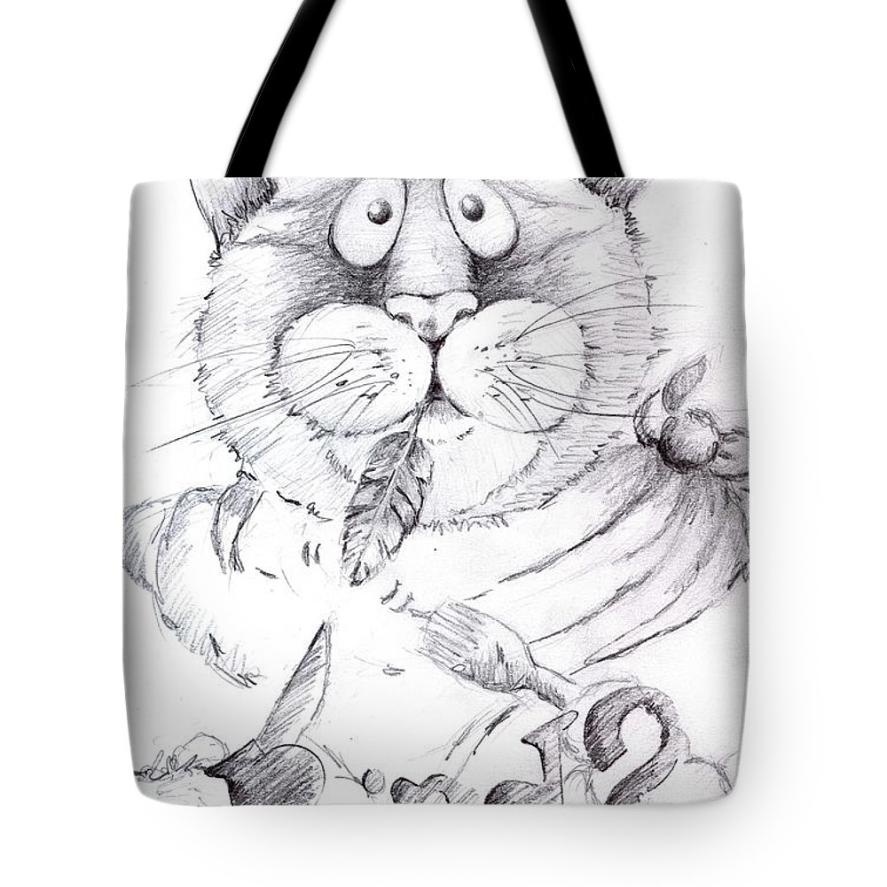 Charity Tote Bag featuring the drawing What Bird by Mary-Lee Sanders