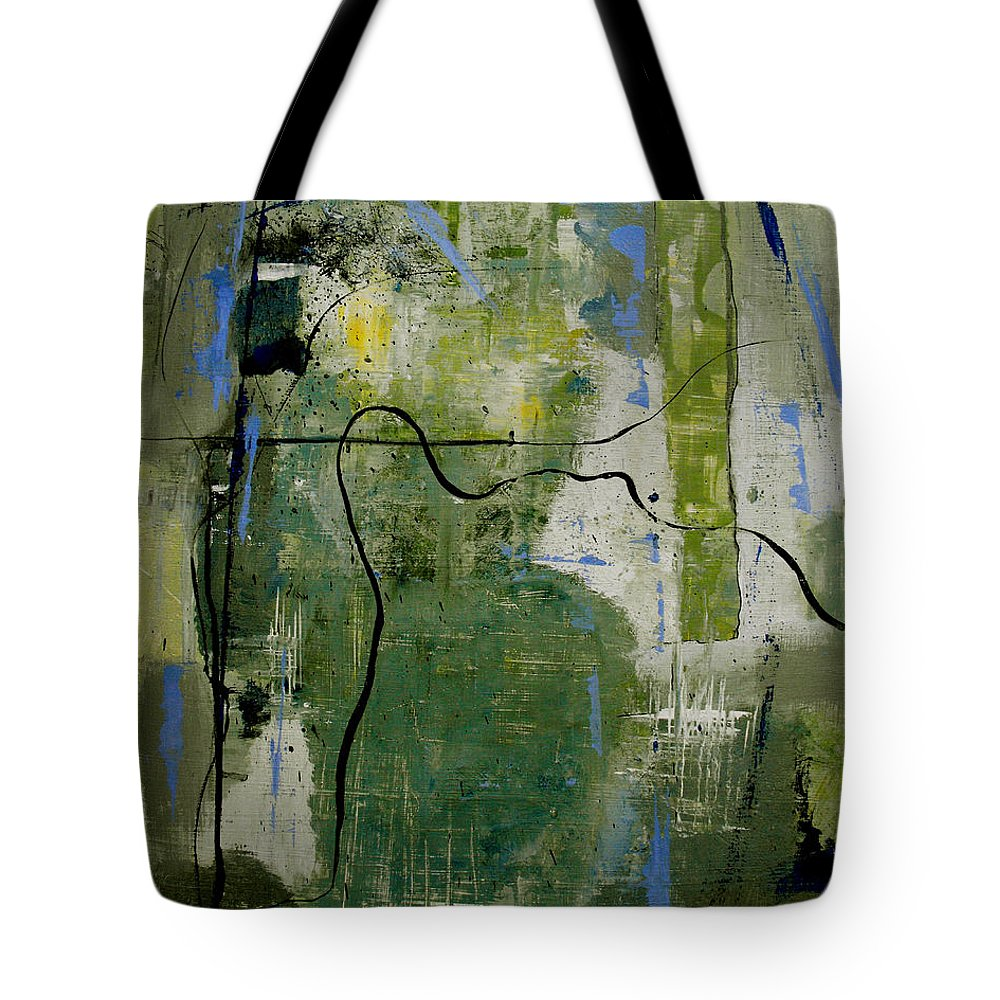 Abstract Tote Bag featuring the painting What Counts Is A New Creation by Ruth Palmer