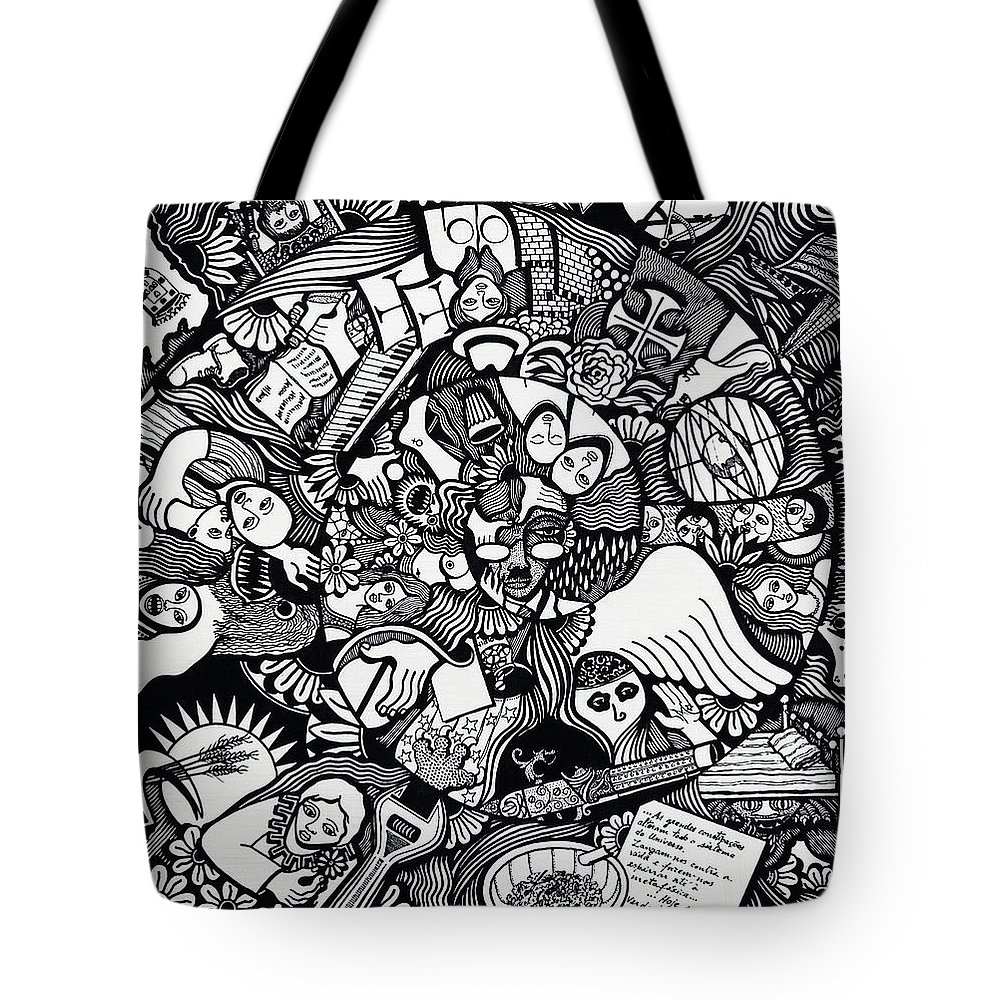 Drawing Tote Bag featuring the drawing What I Used To Be Was A Desire Which As Gone by Jose Alberto Gomes Pereira