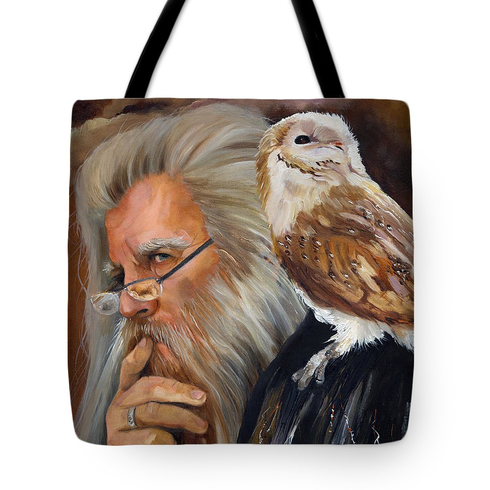 Wizard Tote Bag featuring the painting What If... by J W Baker