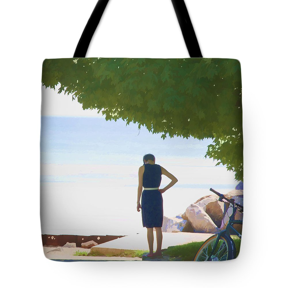 Lake Tote Bag featuring the photograph What If by John Hansen