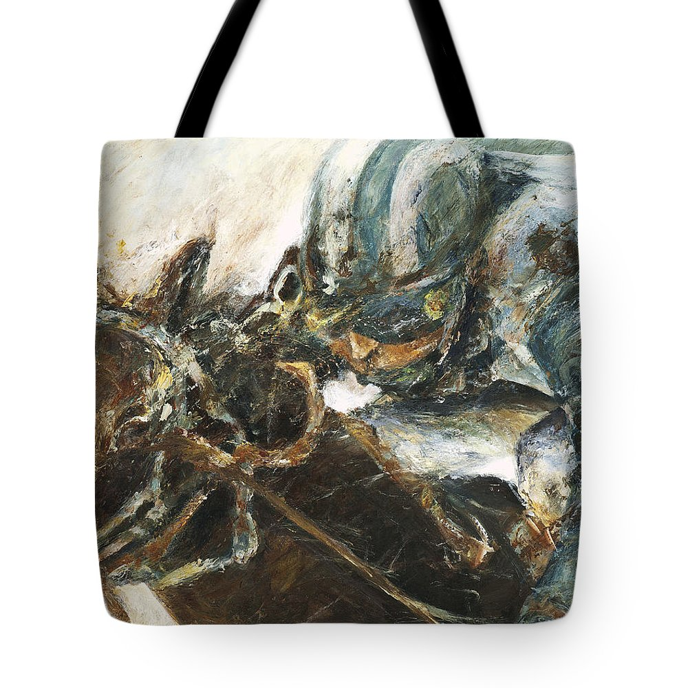 Thoroughbred Tote Bag featuring the painting What It Takes To Win by Francine Stuart