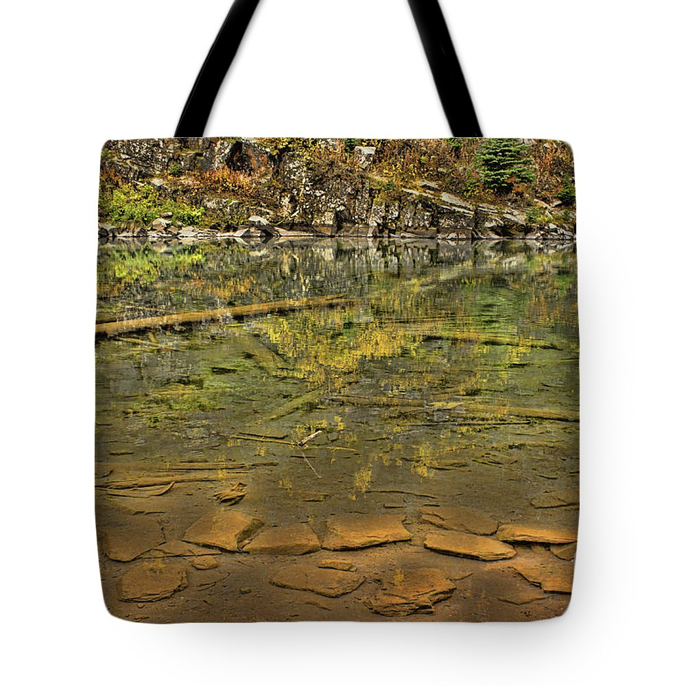 Lake Tote Bag featuring the photograph What Lies Beneath by Steven Parker