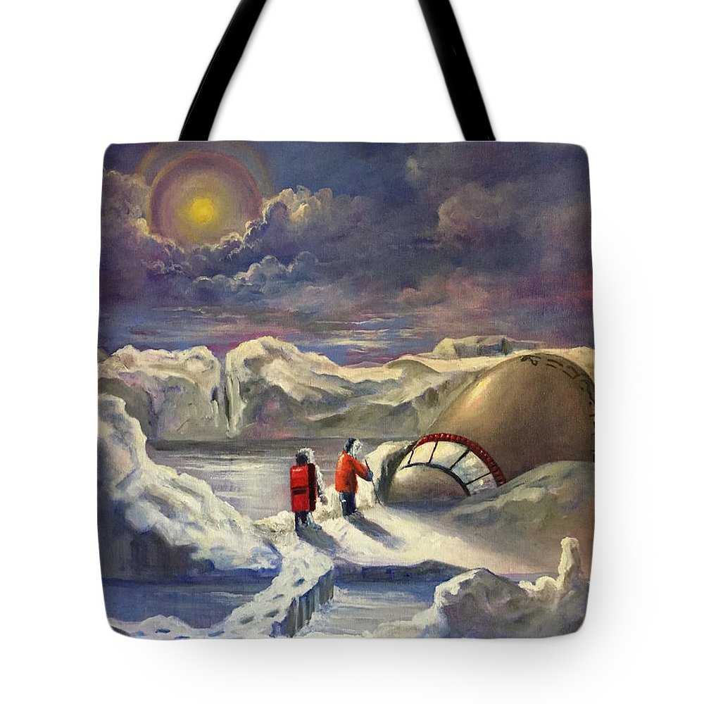 Ufo Tote Bag featuring the painting What Nasa Knows by Randy Burns
