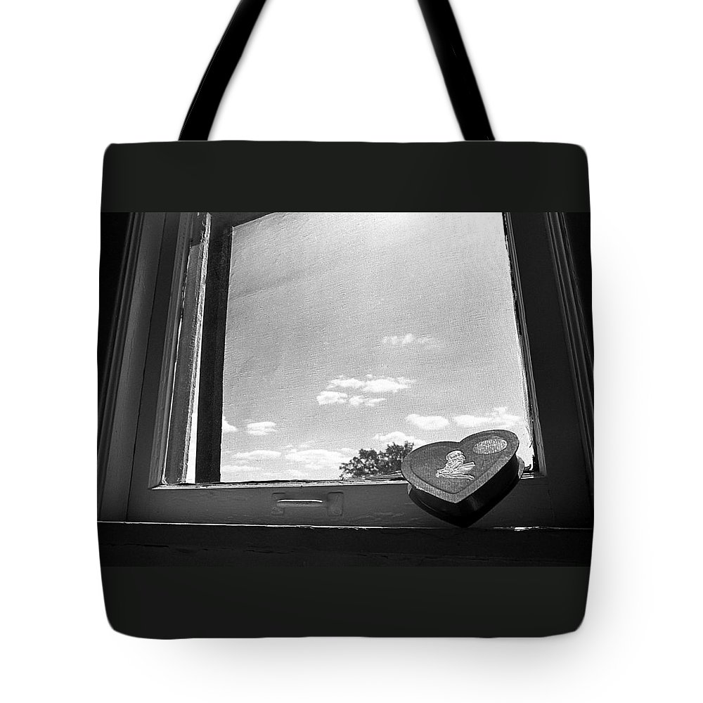 Window Tote Bag featuring the photograph What Remains by Ted M Tubbs