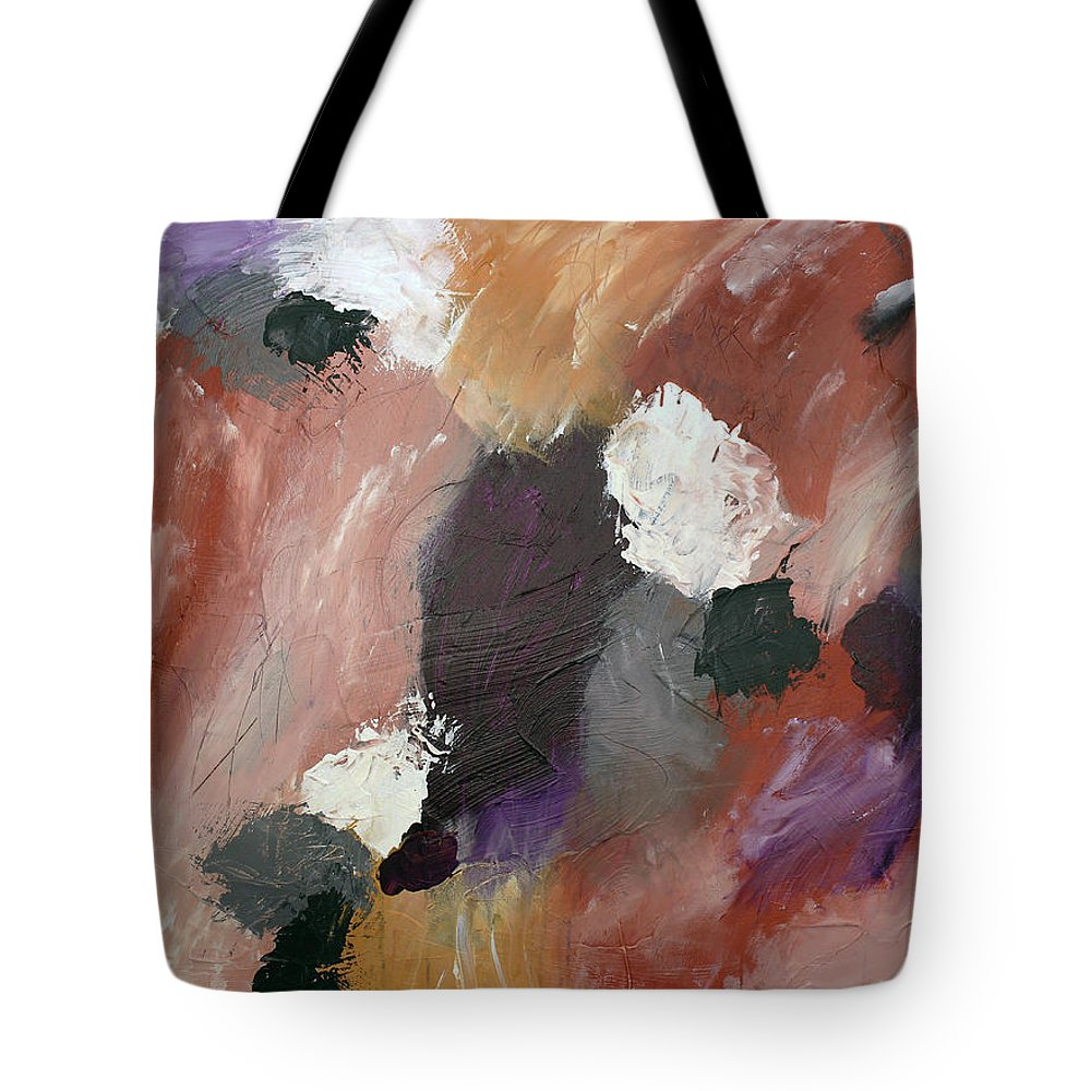 Purple Tote Bag featuring the painting What's Up My Witches? 1 by Rebecca Danger