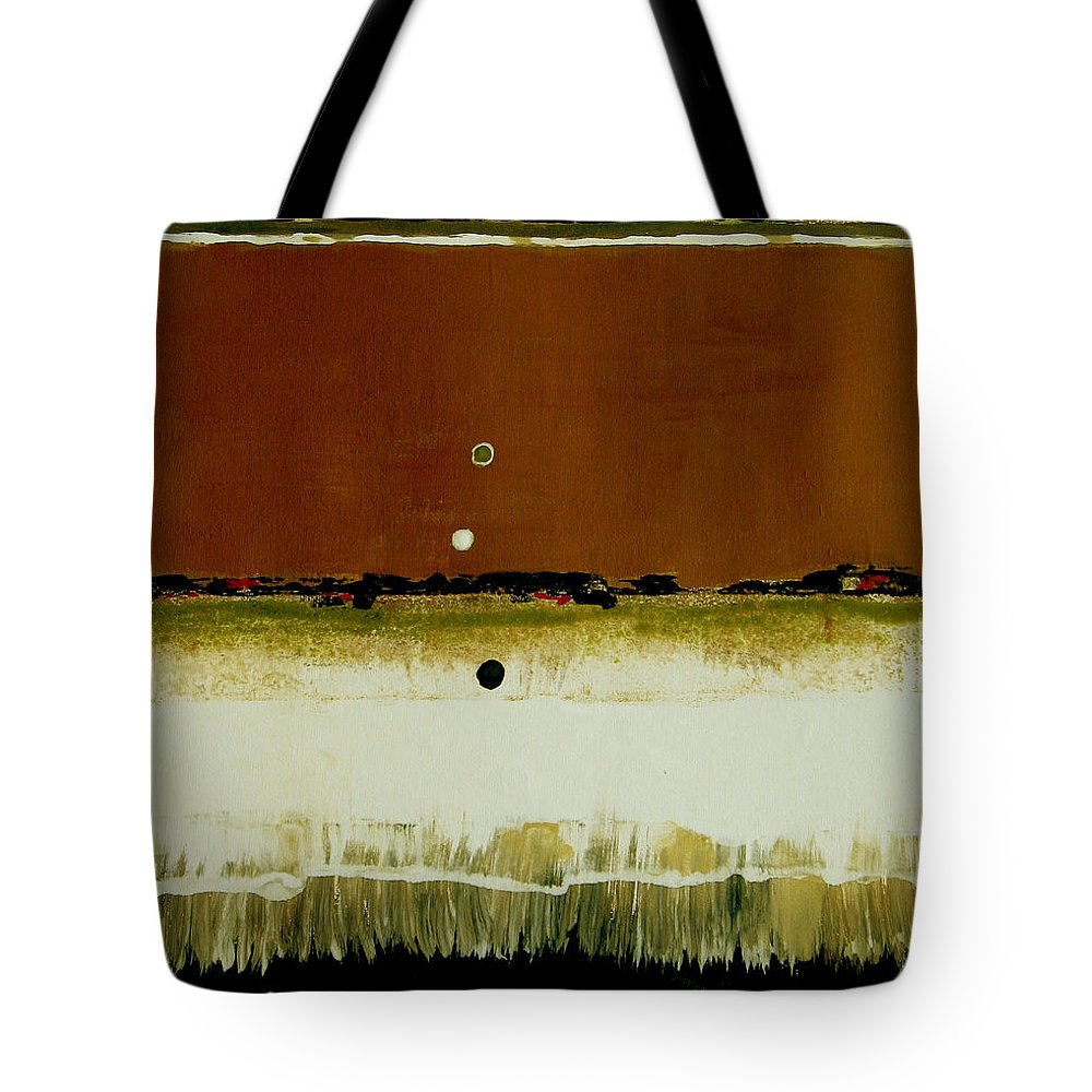 Abstract Tote Bag featuring the painting Whats Your Line by Ruth Palmer