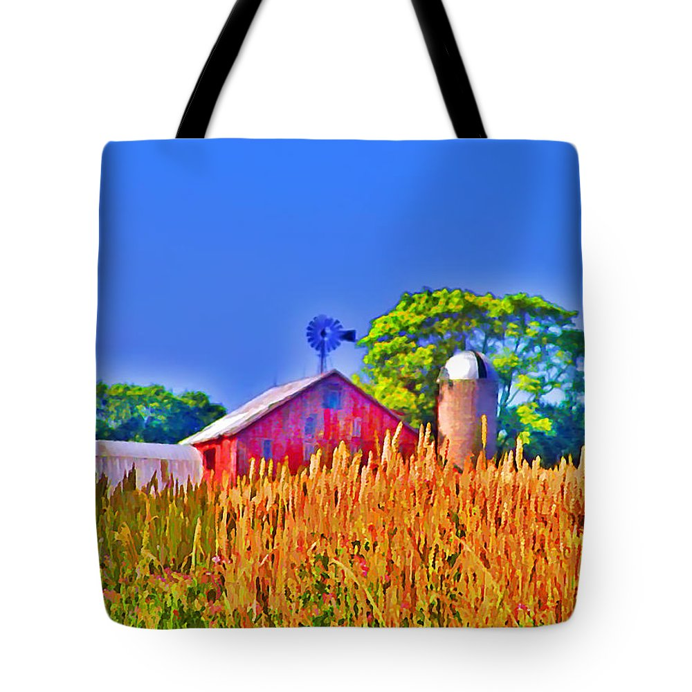 Gettysburg Tote Bag featuring the photograph Wheat Farm Near Gettysburg by Bill Cannon
