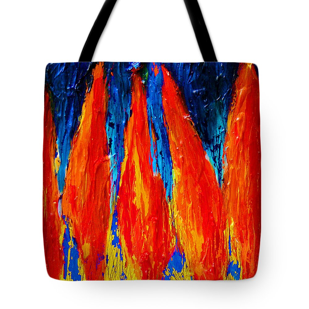 Wheat Tote Bag featuring the painting Wheat Field by Noga Ami-rav