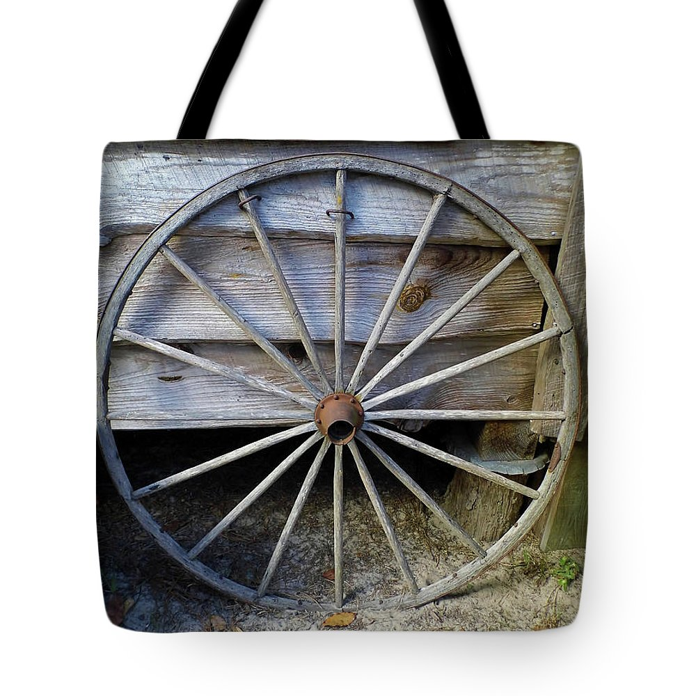 Wheel Tote Bag featuring the photograph Wheel by D Hackett