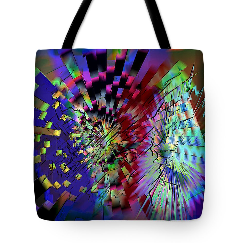 Ebsq Tote Bag featuring the digital art Wheel Of Fortune by Dee Flouton