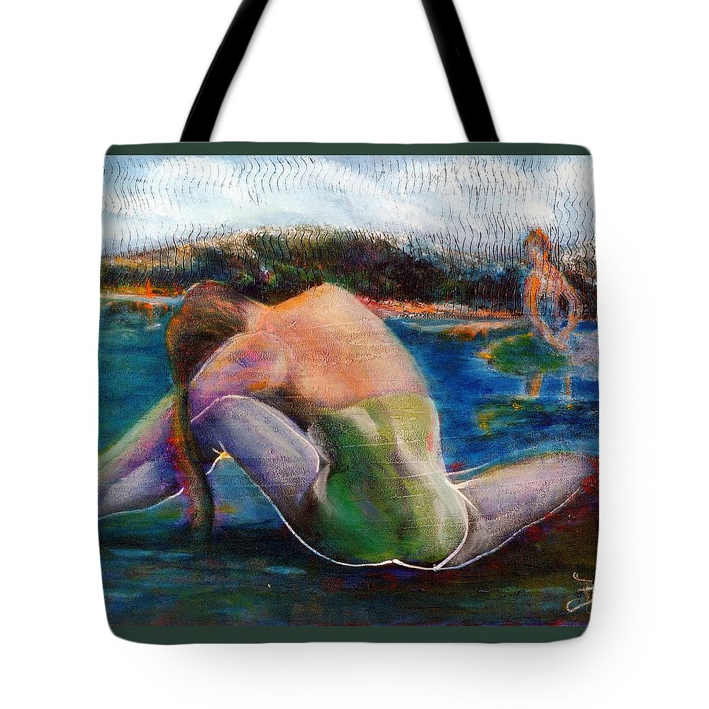 Woman Tote Bag featuring the painting When Dreams Return by Dennis Tawes