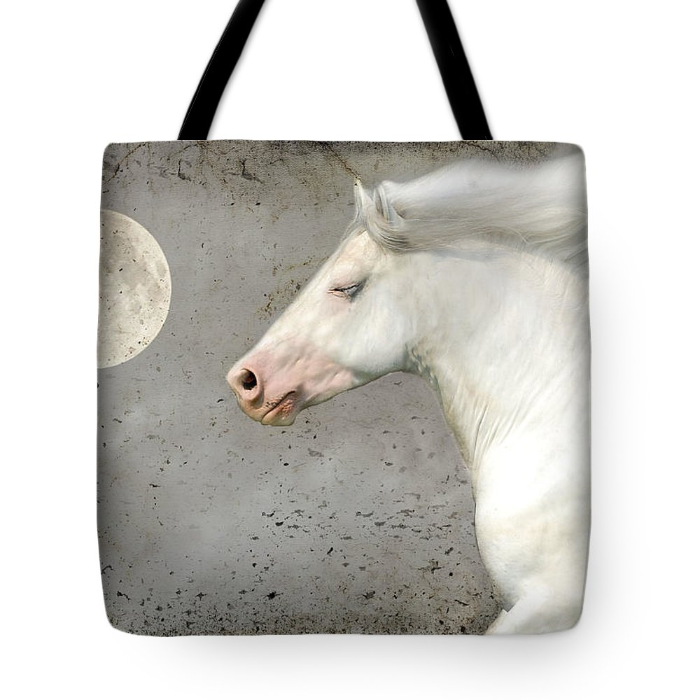 Horse Photographs Tote Bag featuring the photograph When Horses Dream by Fran J Scott
