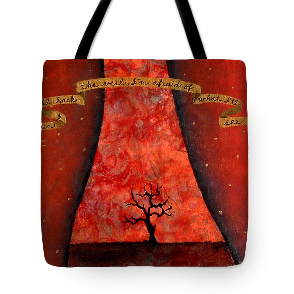 Landscape Tote Bag featuring the painting When I Pull Back The Veil by Pauline Lim