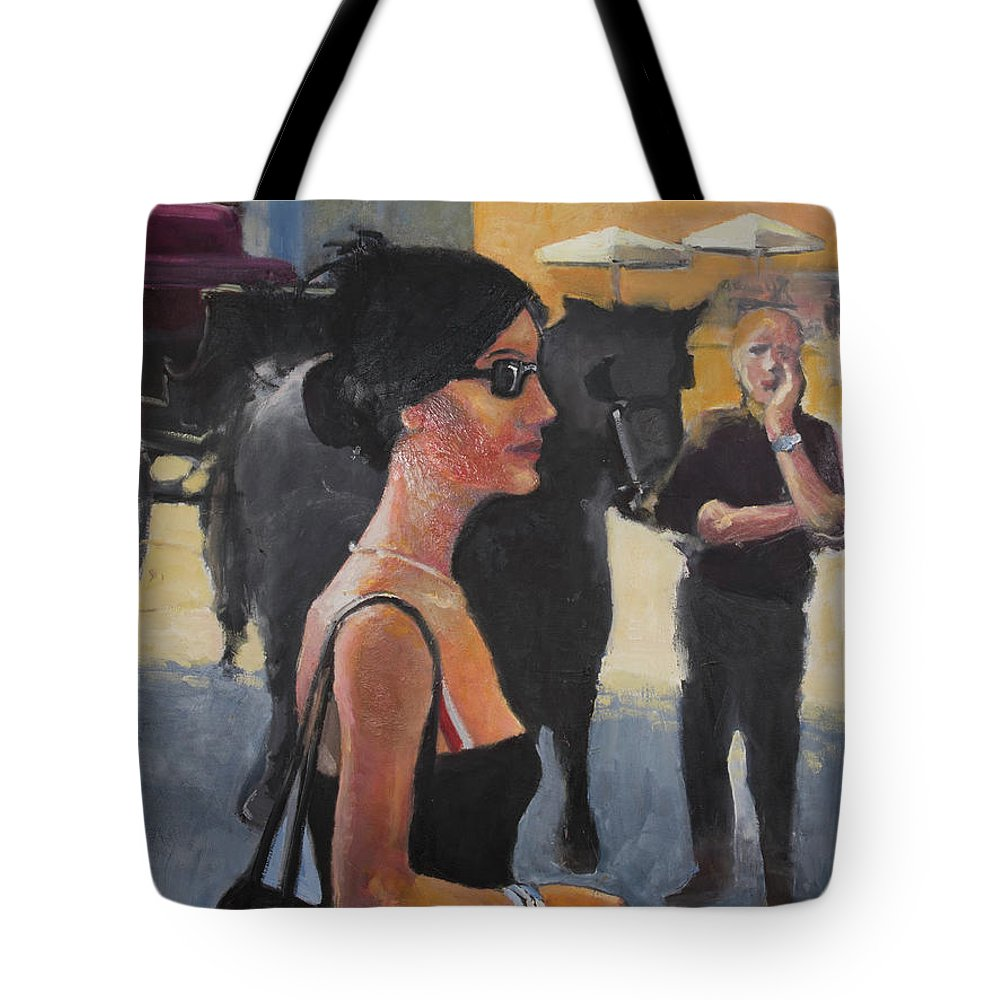 Italy Tote Bag featuring the painting When In Rome by Craig Newland