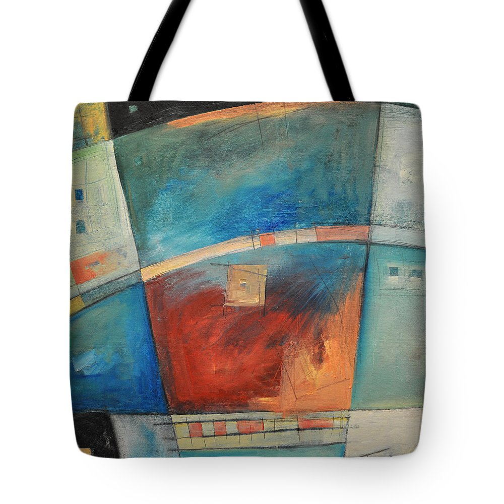 Abstract Tote Bag featuring the painting When Pigs Fly by Tim Nyberg