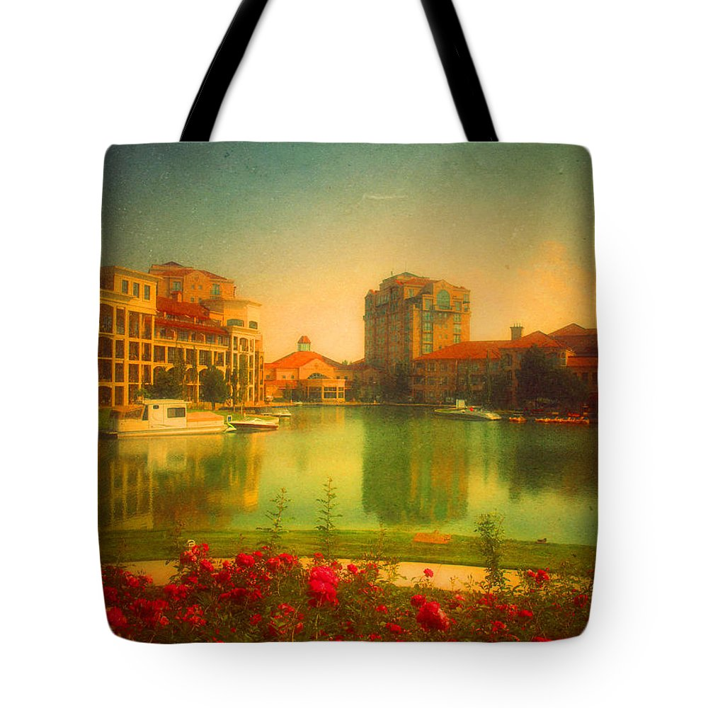 Buildings Tote Bag featuring the photograph When The City Dares To Dream 2 by Tara Turner