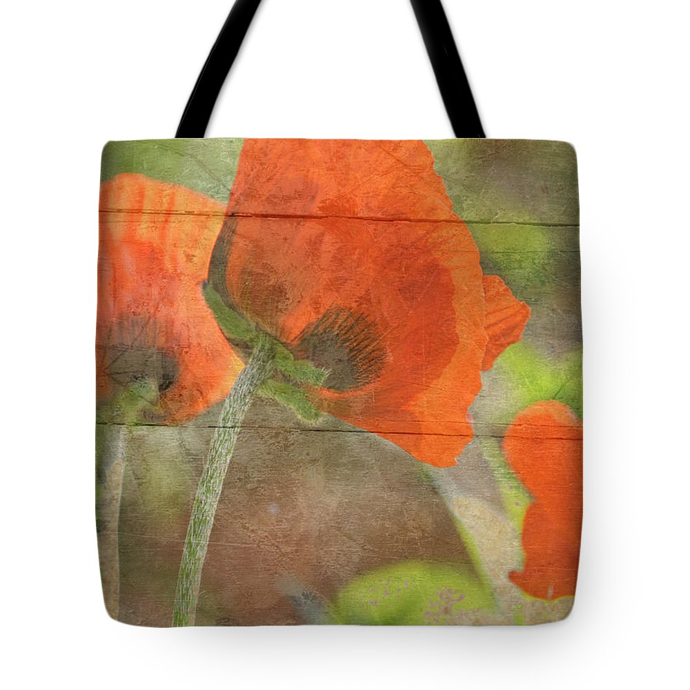 Poppy Tote Bag featuring the photograph When by Traci Cottingham