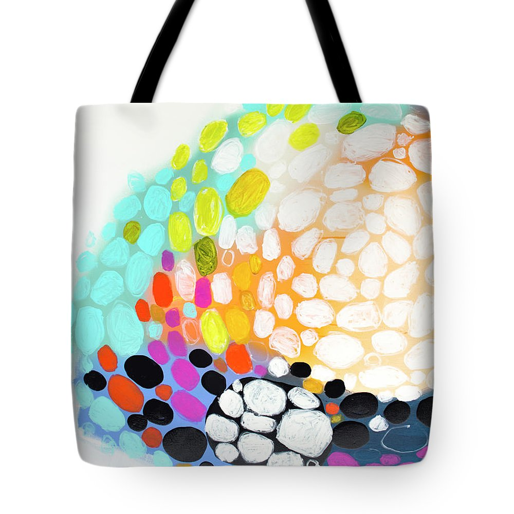 Abstract Tote Bag featuring the painting When You Get Home by Claire Desjardins