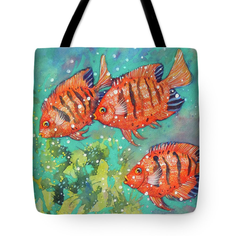 Top Artist Tote Bag featuring the painting Where Are We Going by Sharon Nelson-Bianco