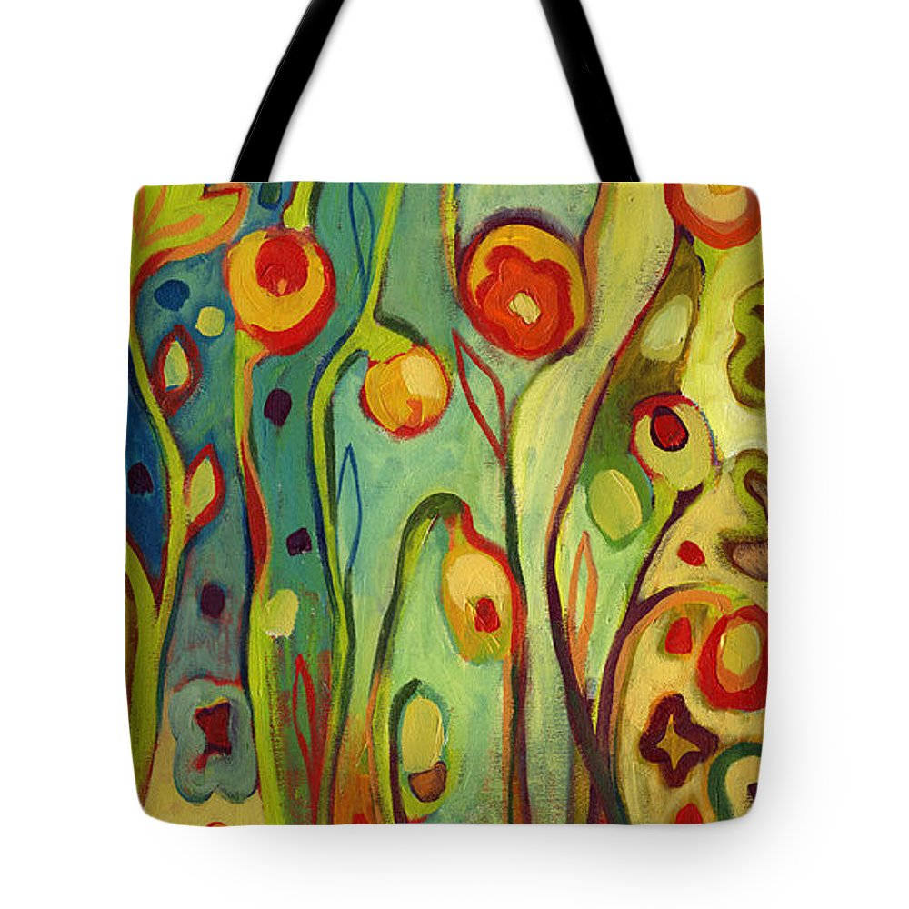 Floral Tote Bag featuring the painting Where Does Your Garden Grow by Jennifer Lommers