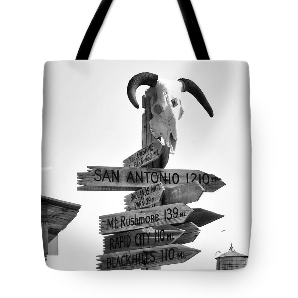 Ann Keisling Tote Bag featuring the photograph Which Way? by Ann Keisling