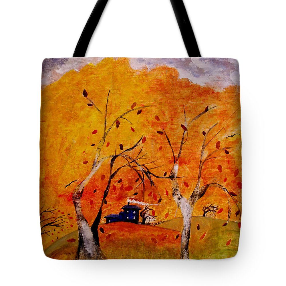 Abstract Tote Bag featuring the painting Whimsical Wind by Ruth Palmer