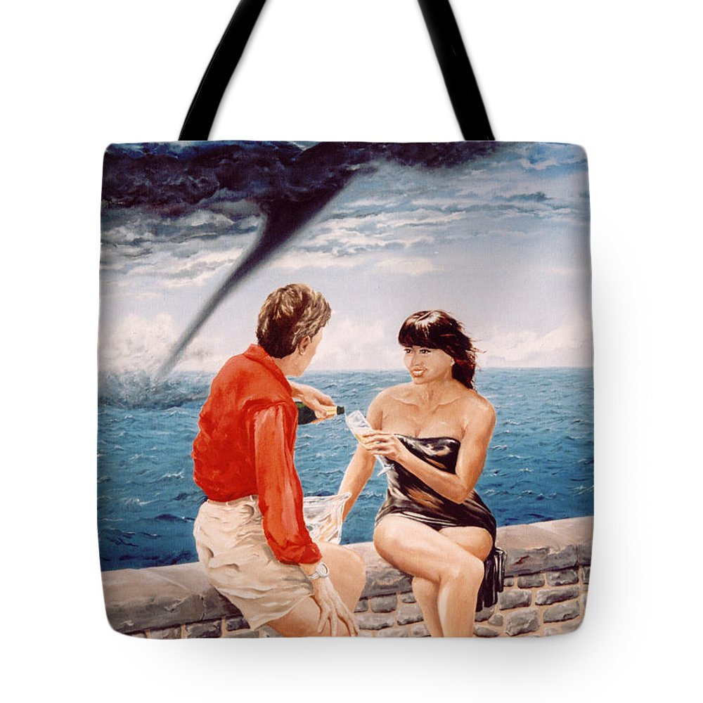 Whirlwind Tote Bag featuring the painting Whirlwind Romance by Mark Cawood
