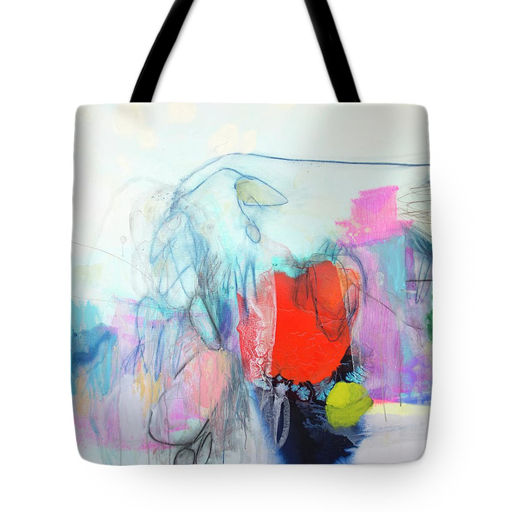 Abstract Tote Bag featuring the painting Whisper by Claire Desjardins