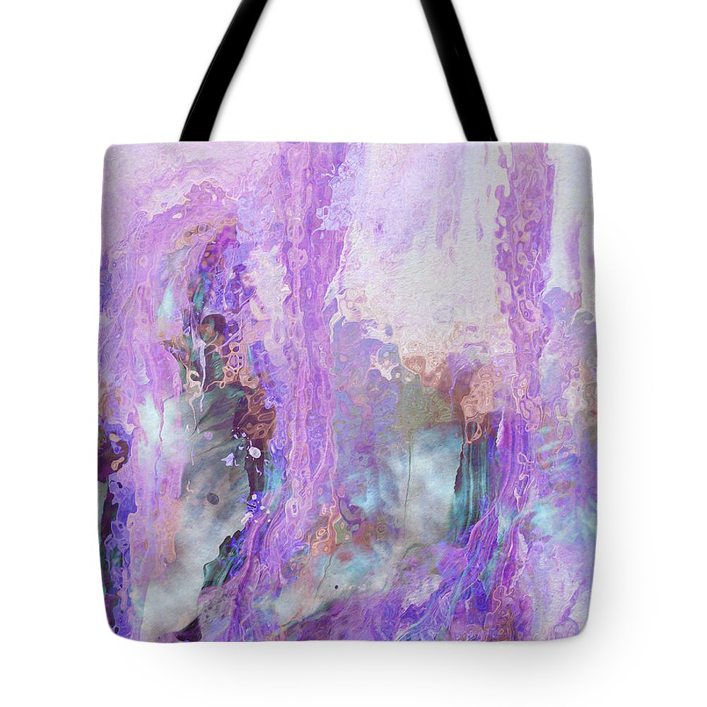 Abstract Art Tote Bag featuring the digital art Whisper Softly by Linda Murphy