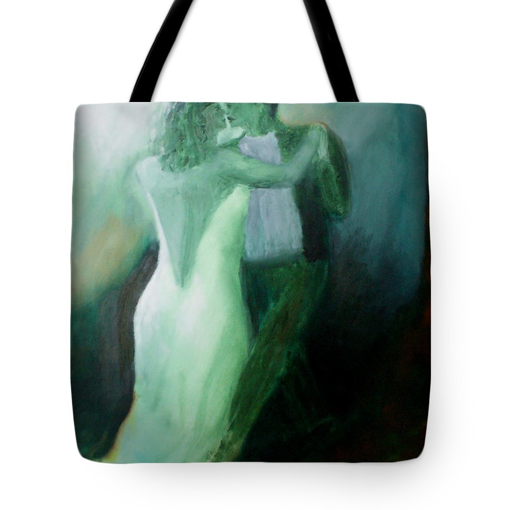 Dance Tote Bag featuring the painting Whispered Passion by Keith Thue
