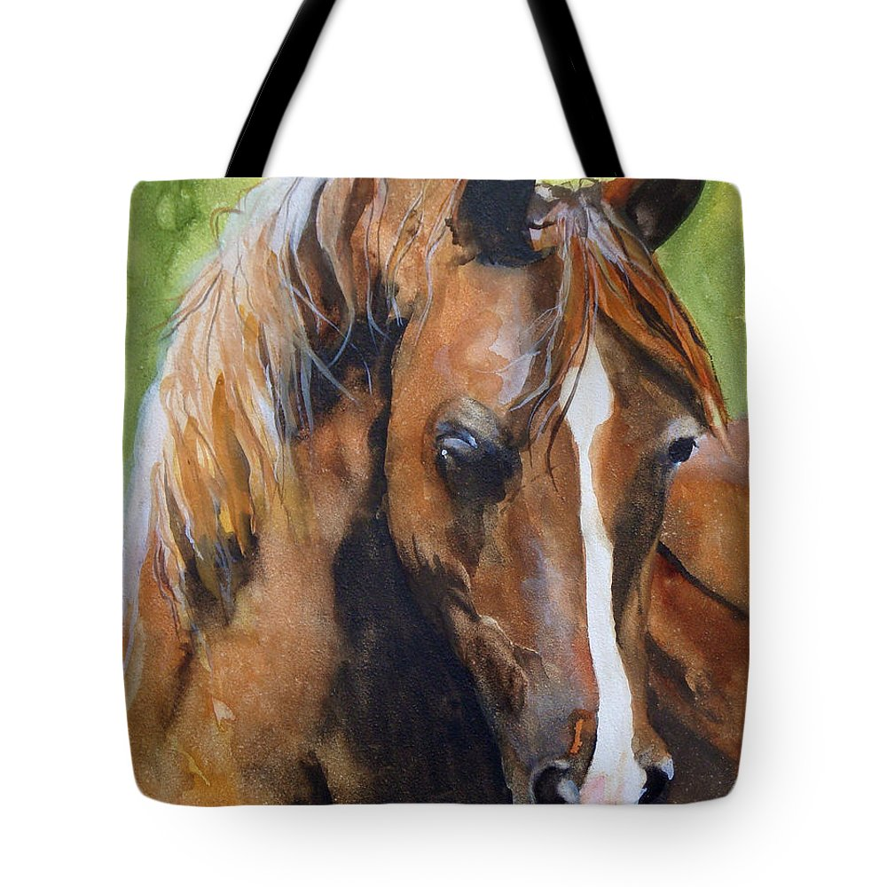 Horse Tote Bag featuring the painting White Blaze by Jean Blackmer