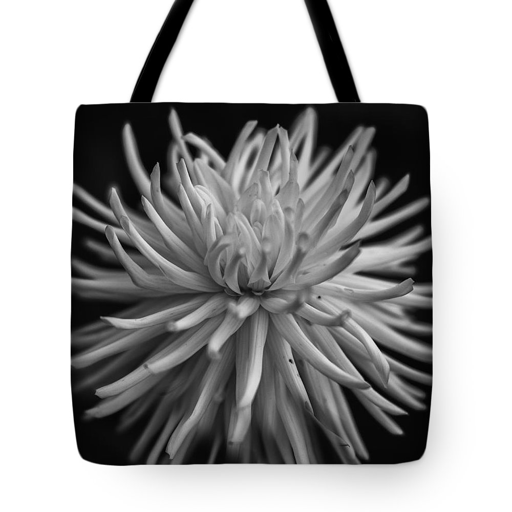 Flower Tote Bag featuring the photograph White Burst by Roni Chastain