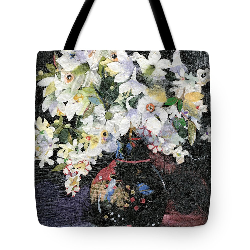 Limited Edition Prints Tote Bag featuring the painting White Celebration by Nira Schwartz