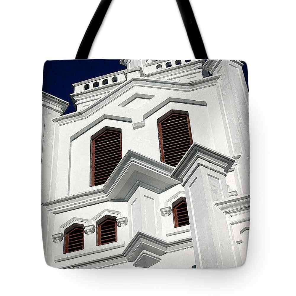 Church Tote Bag featuring the photograph White Church by Mary Haber