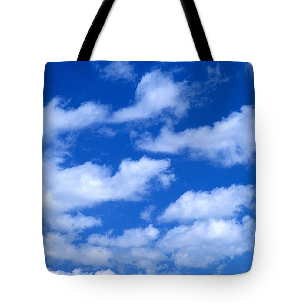 Air Tote Bag featuring the photograph White Clouds by Kyle Rothenborg - Printscapes