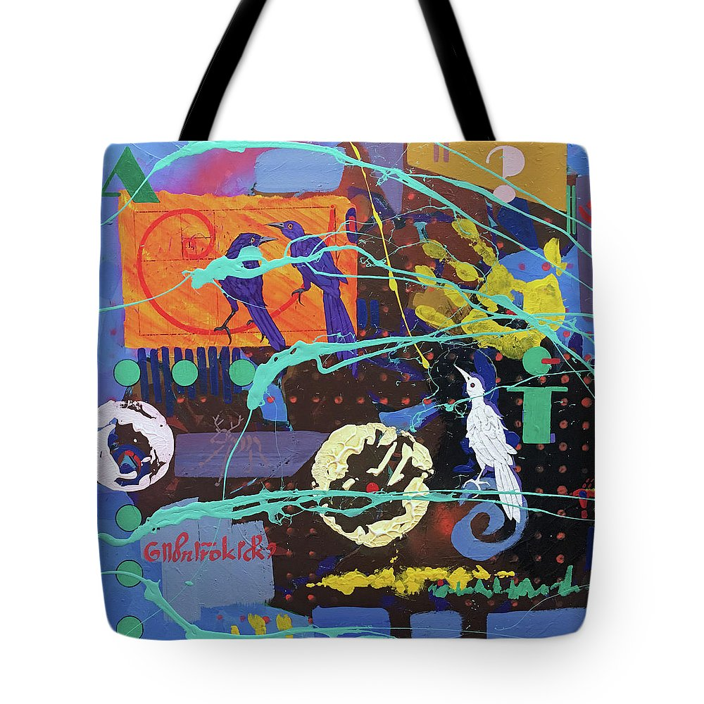 White Crow Tote Bag featuring the painting White Crow by Ken Church
