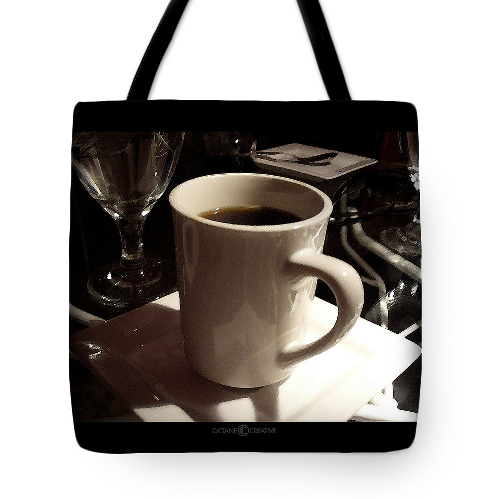 White Tote Bag featuring the photograph White Cup by Tim Nyberg