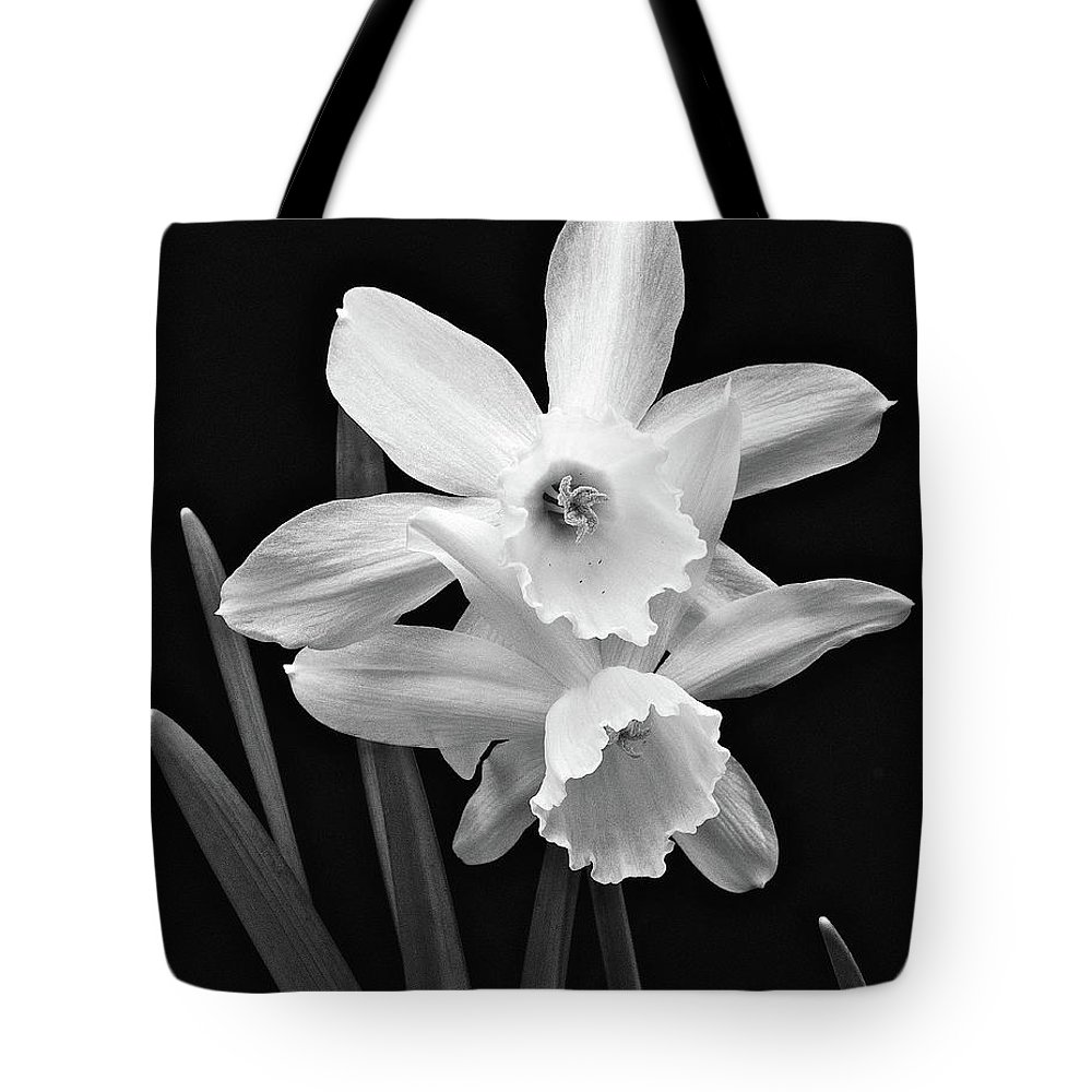 White Daffodils Tote Bag featuring the photograph White Daffodils by Michael Peychich