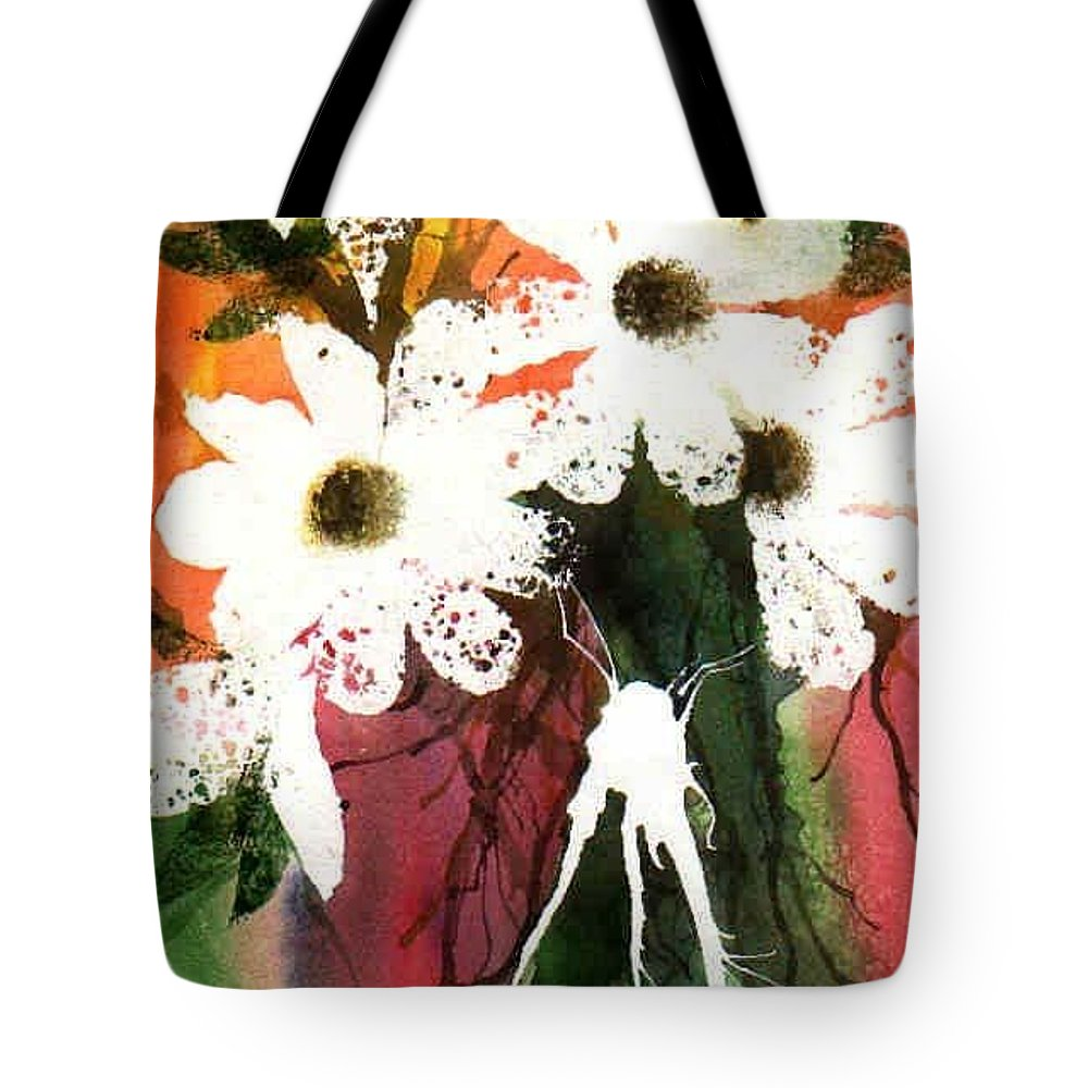 Daisy Tote Bag featuring the painting White Daisies by Marsha Elliott