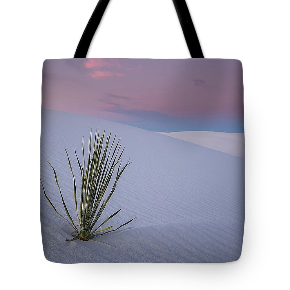 White Tote Bag featuring the photograph White Dunes by Edgars Erglis