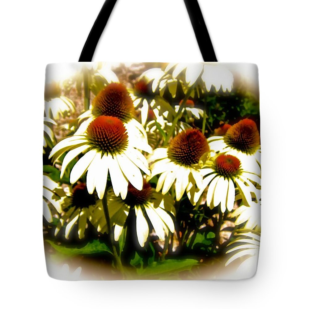 Echinacea Tote Bag featuring the photograph White Echinacea by Elizabeth Tillar