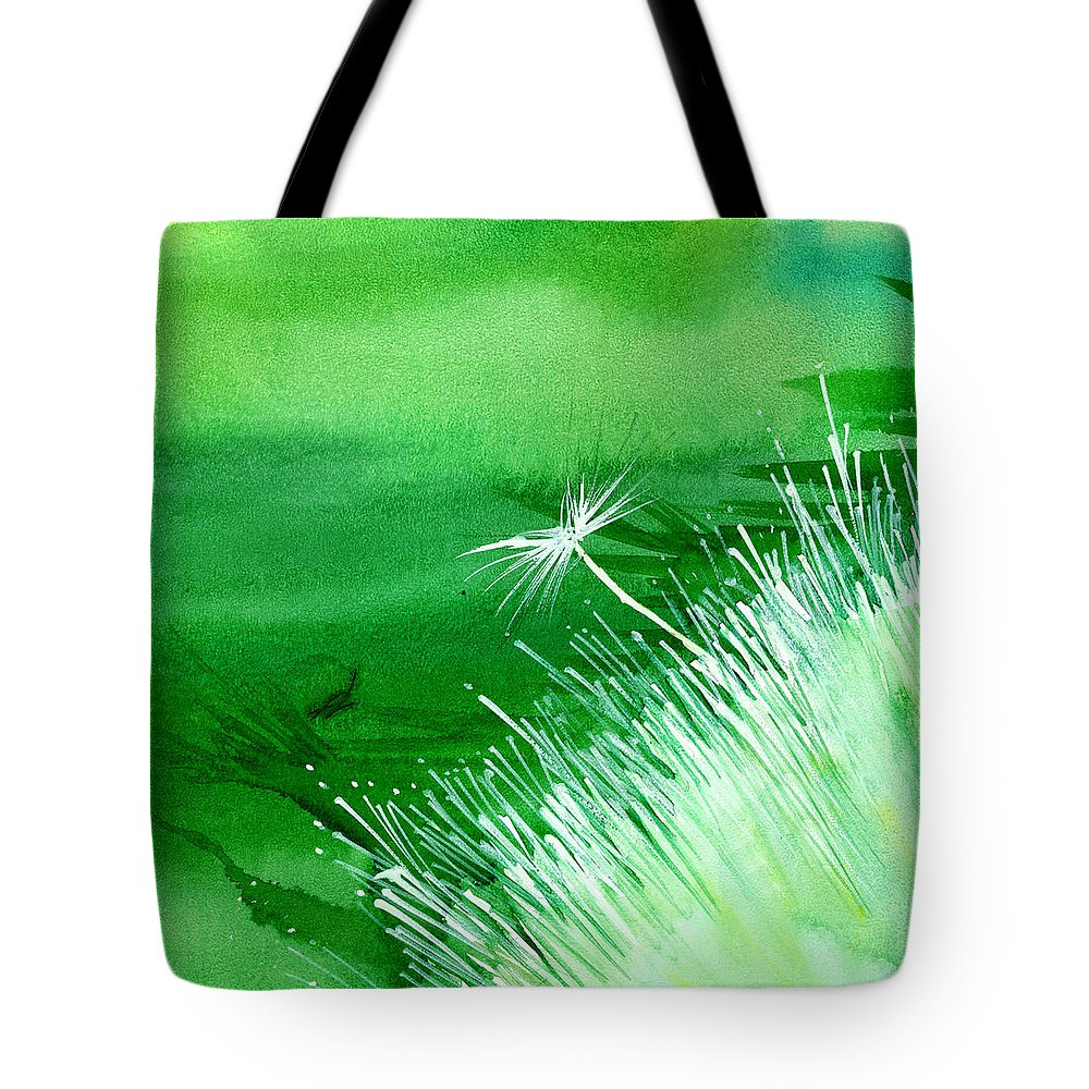 Flowers Tote Bag featuring the painting White Flower by Anil Nene