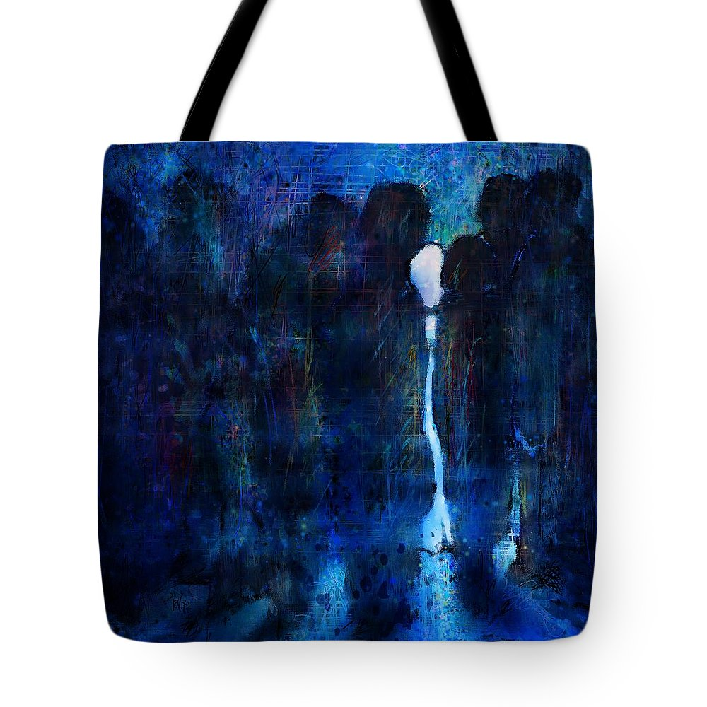 Girl Tote Bag featuring the digital art White Girl by Rachel Christine Nowicki